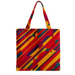 Colorful hot pattern Zipper Grocery Tote Bag