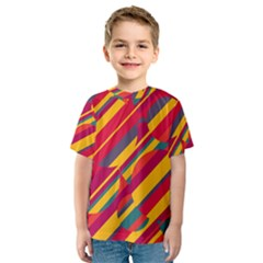 Colorful hot pattern Kid s Sport Mesh Tee