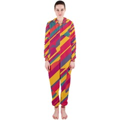 Colorful hot pattern Hooded Jumpsuit (Ladies)