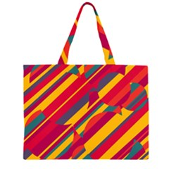 Colorful hot pattern Large Tote Bag