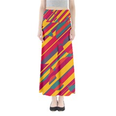 Colorful hot pattern Maxi Skirts