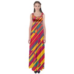 Colorful Hot Pattern Empire Waist Maxi Dress