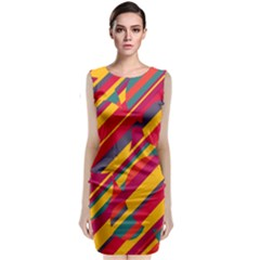 Colorful Hot Pattern Classic Sleeveless Midi Dress