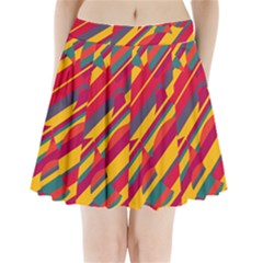 Colorful hot pattern Pleated Mini Mesh Skirt