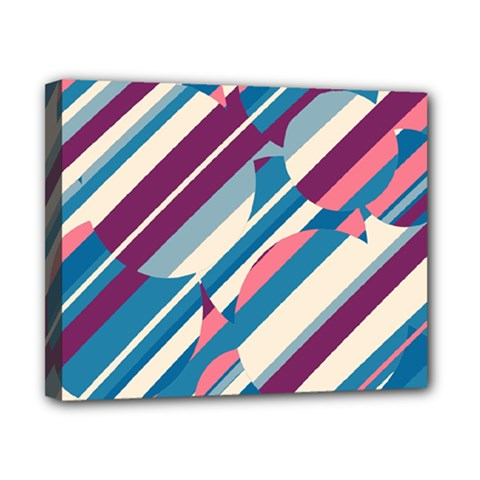 Blue and pink pattern Canvas 10  x 8