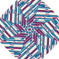 Blue and pink pattern Straight Umbrellas