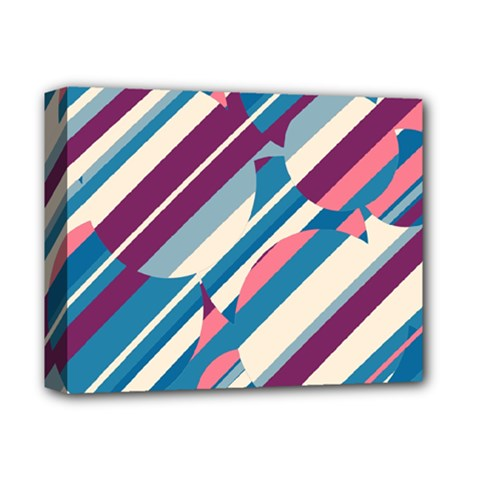 Blue and pink pattern Deluxe Canvas 14  x 11