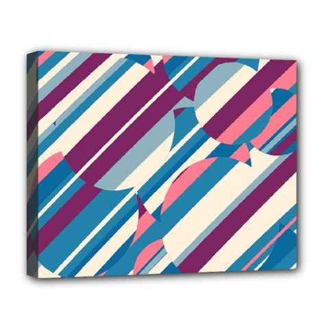 Blue and pink pattern Deluxe Canvas 20  x 16