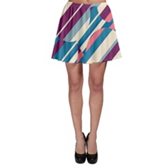 Blue and pink pattern Skater Skirt
