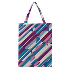 Blue and pink pattern Classic Tote Bag