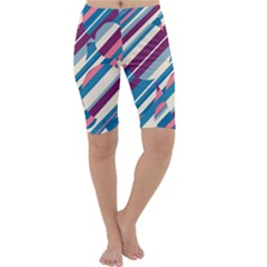 Blue and pink pattern Cropped Leggings