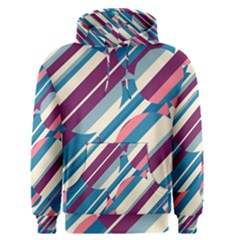 Blue and pink pattern Men s Pullover Hoodie