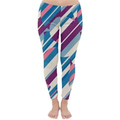 Blue and pink pattern Winter Leggings