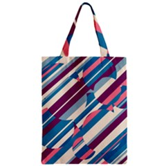 Blue and pink pattern Zipper Classic Tote Bag