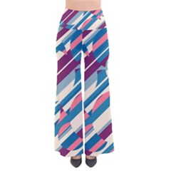 Blue And Pink Pattern Pants