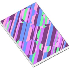 Pink, purple and green pattern Large Memo Pads