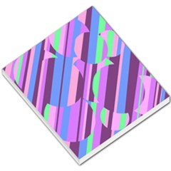 Pink, purple and green pattern Small Memo Pads