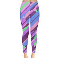 Pink, purple and green pattern Leggings