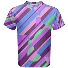 Pink, purple and green pattern Men s Cotton Tee