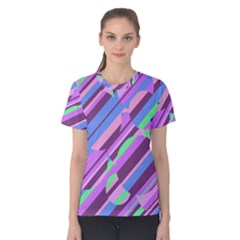 Pink, purple and green pattern Women s Cotton Tee