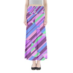 Pink, Purple And Green Pattern Maxi Skirts