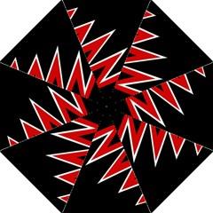 Black and red simple design Folding Umbrellas