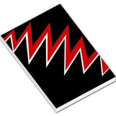 Black and red simple design Large Memo Pads