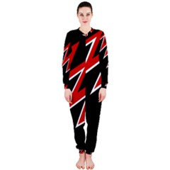 Black and red simple design OnePiece Jumpsuit (Ladies)
