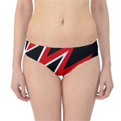 Black and red simple design Hipster Bikini Bottoms