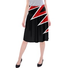 Black and red simple design Midi Beach Skirt