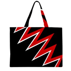 Black and red simple design Large Tote Bag