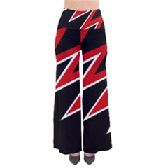 Black And Red Simple Design Pants