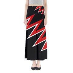 Black and red simple design Maxi Skirts
