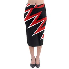 Black and red simple design Midi Pencil Skirt