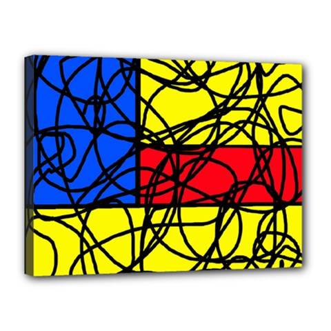 Yellow abstract pattern Canvas 16  x 12