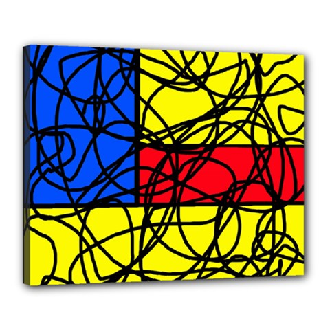 Yellow abstract pattern Canvas 20  x 16