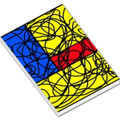 Yellow abstract pattern Large Memo Pads