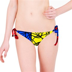 Yellow abstract pattern Bikini Bottom