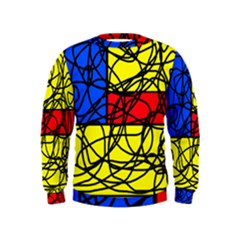 Yellow abstract pattern Kids  Sweatshirt