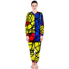 Yellow abstract pattern OnePiece Jumpsuit (Ladies)