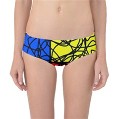 Yellow abstract pattern Classic Bikini Bottoms