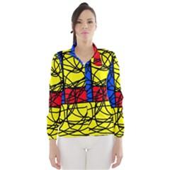 Yellow abstract pattern Wind Breaker (Women)