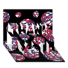 Colorful decorative pattern THANK YOU 3D Greeting Card (7x5)