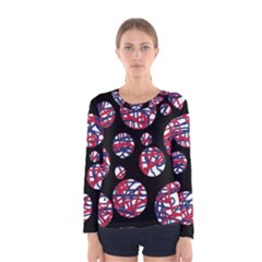 Colorful decorative pattern Women s Long Sleeve Tee
