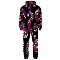 Colorful decorative pattern Hooded Jumpsuit (Men)