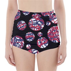 Colorful decorative pattern High-Waisted Bikini Bottoms