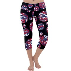 Colorful decorative pattern Capri Yoga Leggings