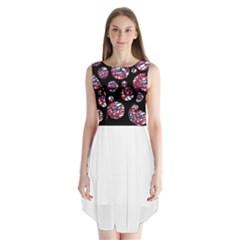 Colorful decorative pattern Sleeveless Chiffon Dress