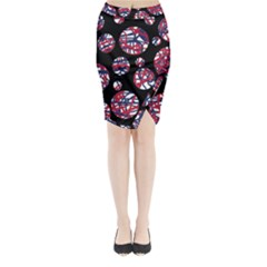 Colorful decorative pattern Midi Wrap Pencil Skirt
