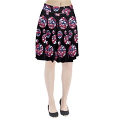 Colorful decorative pattern Pleated Mesh Skirt